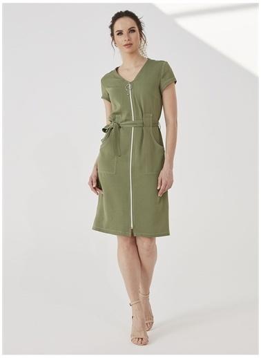 Selen Selen Elbise Yeşil